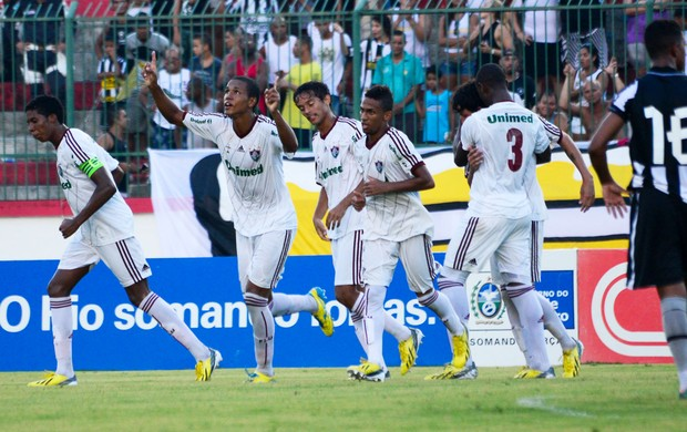 Fluminense comemora gol sobre o Botafogo - Sub 20 (Foto: Bruno Haddad/Fluminense FC)