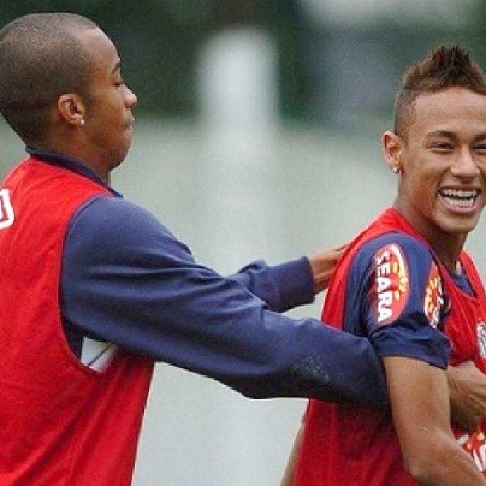 Neymar e Wesley Lopes Santos (Foto: Reprodução / Instagran )