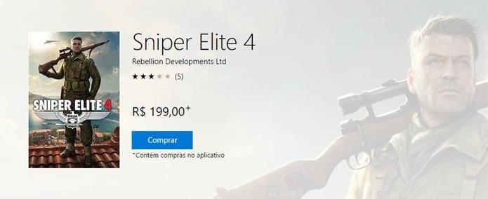 Inserção de dados de pagamento finaliza compra de Sniper Elite 4 (Foto: Reprodução/Felipe Demartini)