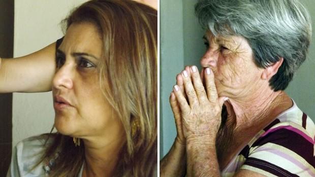 Silvana, mãe, e Iracema, avó de Giovanni, meia do Corinthians, em Sorocaba (Foto: Fernando Cesarotti/Globoesporte.com)