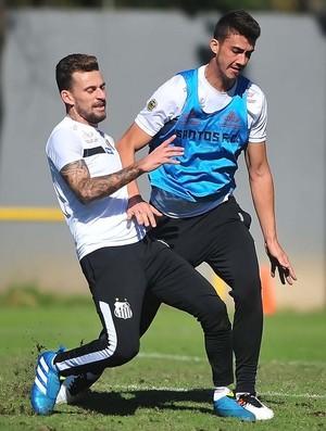Lucas Lima e Gustavo Henrique, Santos (Foto: Ivan Storti/Santos FC)
