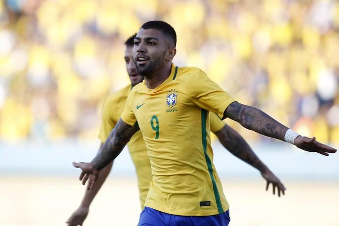 gabriel gabigol gol seleção brasil japão serra dourada (Foto: ADALBERTO MARQUES / Agência Estado)