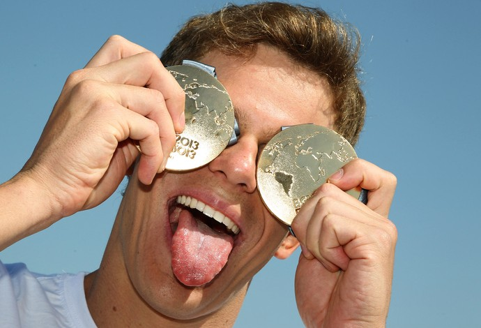 cesar cielo medalha natação ouro natação barcelona (Foto: Satiro Sodre/SSPress)