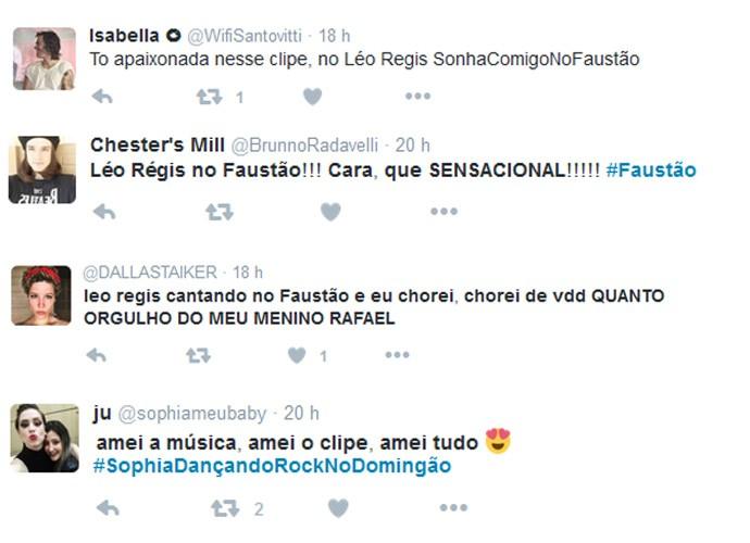 Público nas redes sociais comentou participação de Léo Régis no Domingão do Faustão (Foto: Reprodução)