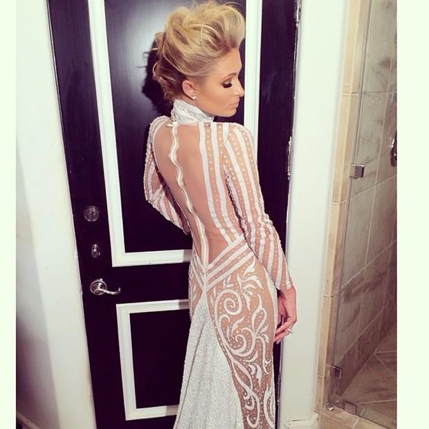 Paris Hilton no Grammy (Foto: Reprodução Instagram)