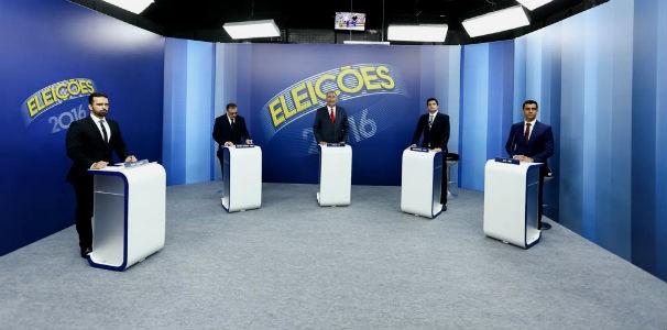 Quatro candidatos participaram do último debate na TV antes das eleições municipais (Foto: Alisson Frazão)