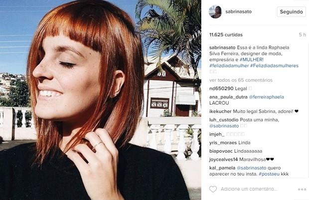 Seguidora de Sabrina Sato (Foto: Reprodução/ Instagram)