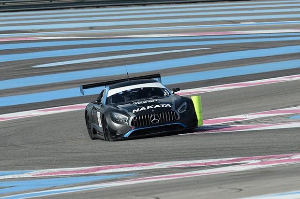 """A Mercedes AMG GT3 nas suas """"hot laps"""" em Paul Ricard. (Foto: Divulgação)"""