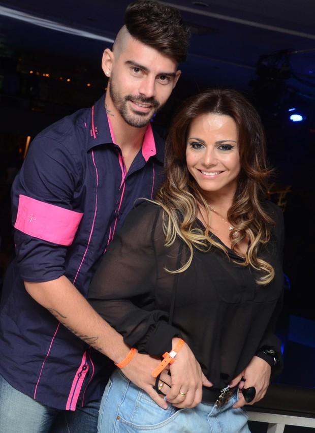Radamés e Viviane Araújo curtem festa no Rio (Foto: Ari Kaye / Divulgação)