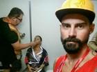 Radamés mostra Viviane Araújo se preparando para desfile do Salgueiro