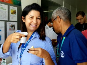 Jornalistas tomam café da manhã especial na TV Gazeta  (Foto: Reprodução/TV Gazeta)