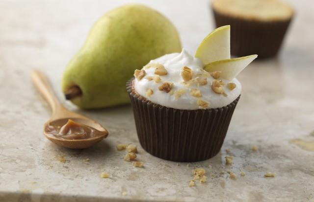 Cupcake de peras com nozes (Foto: Reprodução)