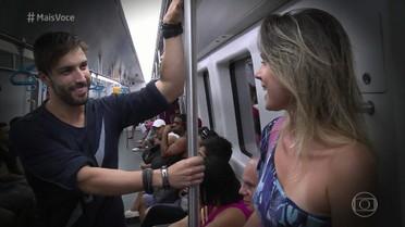 Passageiros falam sobre a paquera no metrô