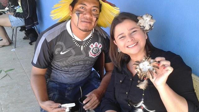Aldeia indígena faz festa para comemorar dois anos de existência (Foto: Arquivo Pessoal/Dione Aguiar)