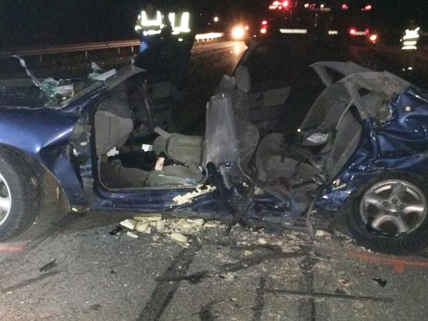 Quatro adolescentes morreram em acidente em estrada do estado de Indiana, nos Estados Unidos (Foto: Indiana State Police via AP)