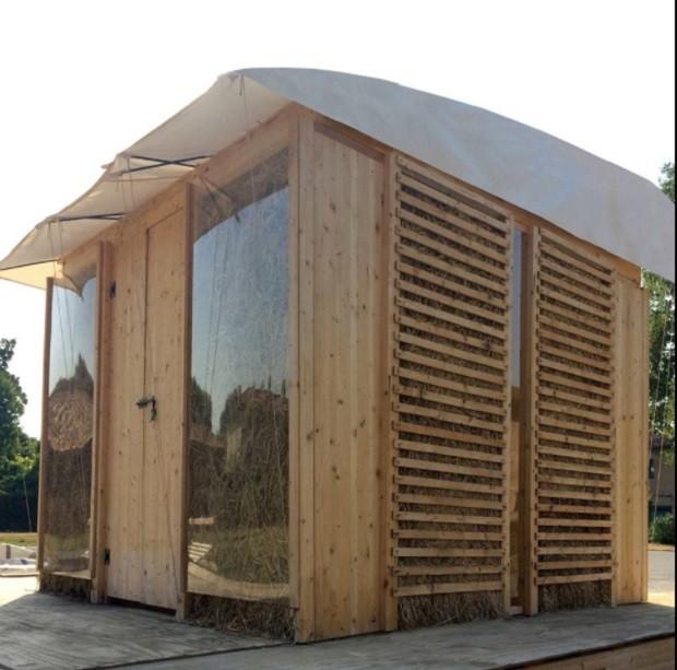 Casa do AGRIshelter, projeto de italiana para abrigar refugiados (Foto: Reprodução Facebook/ AGRIshelter)