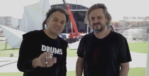 Zé Ricardo, diretor artístico do Palco Sunset, e Luiz Fernando Vieira, guitarrista da banda Republica e publicitário, comentam as novidades do Palco Sunset (Foto: Reprodução)