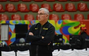 Rival do Brasil na estreia do basquete, Lituânia treina em Mogi para os Jogos