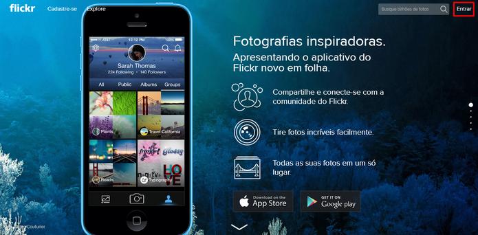 Flickr exige que usuário migre sua conta do Google ou Facebook para uma conta Yahoo ao efetuar login no serviço (Foto: Divulgação/Reprodução/Elson de Souza)