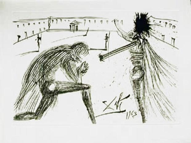 Obras do artista Salvador Dalí fazem parte do acervo exposto na Galeria Villa Luperca (Foto: Divulgação / Q! Notícia Comunicação)