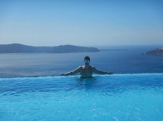 Namorado de Bárbara Evans curtindo descanso em Grécia (Foto: Reprodução/Instagram)