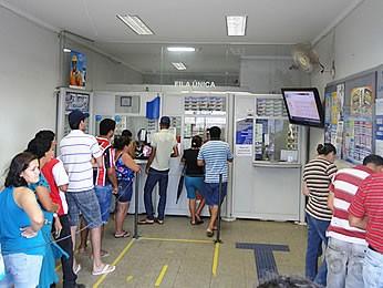 Lotérica está localizada no Centro da cidade de Pedra Preta (Foto: Danilo Santos/Arquivo pessoal)