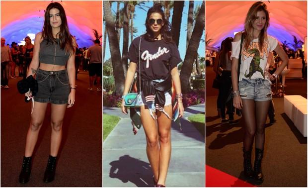 estilo para Lollapalooza_Antonia Morais, Bruna Marquezine e Ellen Jabour (Foto: Roberto Teixeira/EGO/Instagram)
