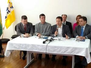 Nelson Marchezan Junior apresenta novos nomes para sua gestão em Porto Alegre (Foto: Léo Saballa Jr./RBS TV)