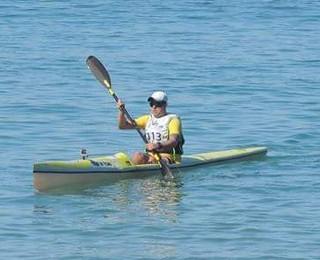 Dennis Simões Canoagem Oceânica (Foto: Arquivo Pessoal)