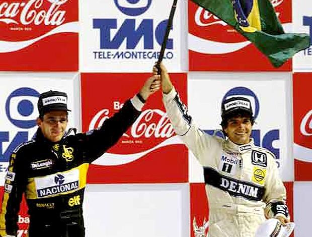 ayrton senna e nelson piquet pódio (Foto: divulgação / Site Oficial da Williams)