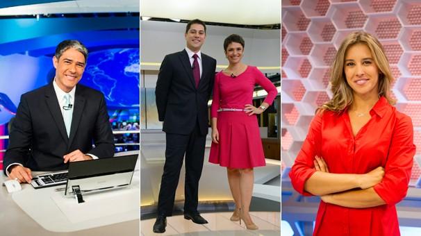 Jornal Nacional, Jornal Hoje e Globo Esporte são exibidos em outros horário por causa do horário político a partir do dia 10 (Foto: Globo)
