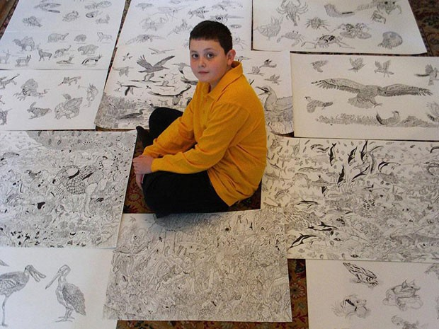 Ilustrador prodígio (Foto: reprodução)