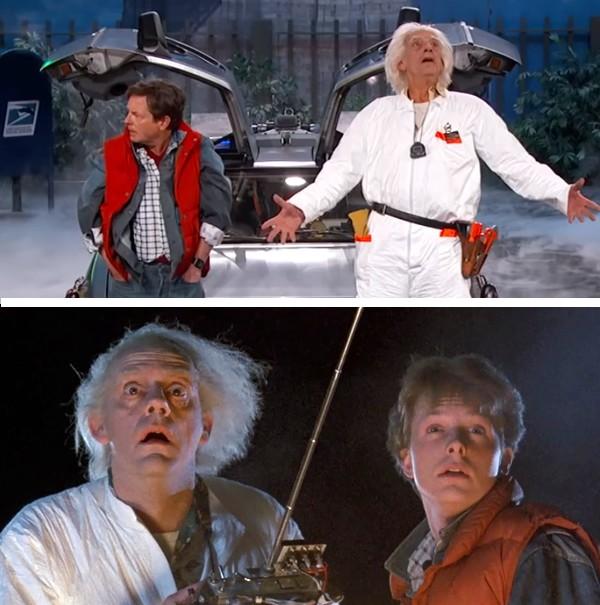Michael J. Fox e Christopher Lloyd em 1985 e hoje (Foto: Reprodução)