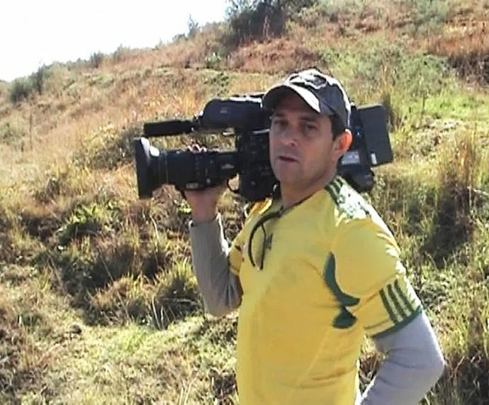 Ari Júnior estava no avião que levava a Chapecoense e caiu (Foto: TV Globo)