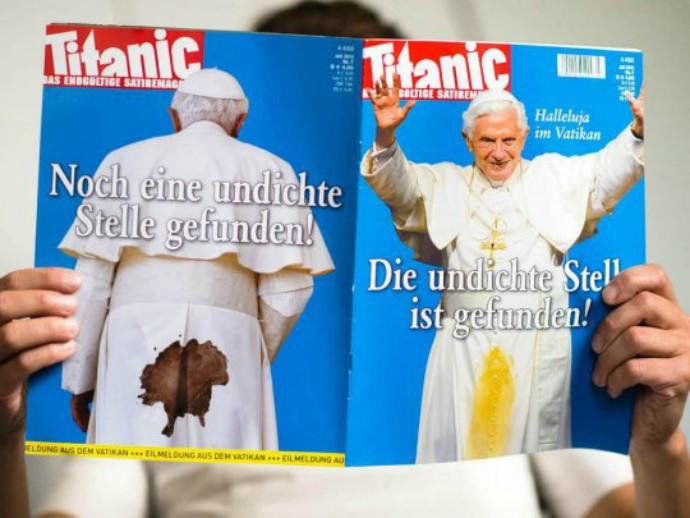 Edição que satiriza Papa Bento XVI foi proibída de circular (Foto: Reprodução)