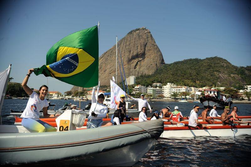 Barqueata na Baía de Guanabara  (Foto: Tomaz Silva/ Agência Brasil)