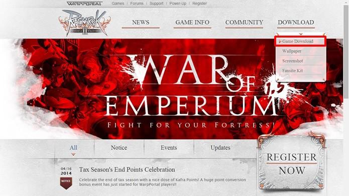 Volte a página inicial do jogo e clique no comando indicado na imagem (Foto: Reprodução/Daniel Ribeiro)