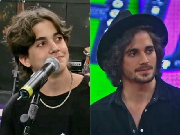 Compare Fiuk, em 2004, no Altas Horas, e em 2014 (Foto: Vídeo Show / TV Globo)