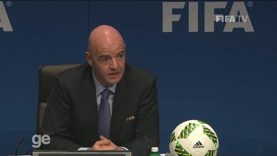 Após revelar salário de Blatter na Fifa, Infantino diz que ainda não sabe o seu