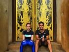 Marina Ruy Barbosa pratica boxe tailandês durante viagem