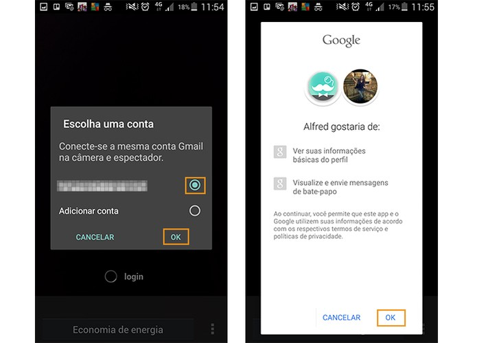 Cadastre o app com sua conta Google (Foto: Reprodução/Barbara Mannara)