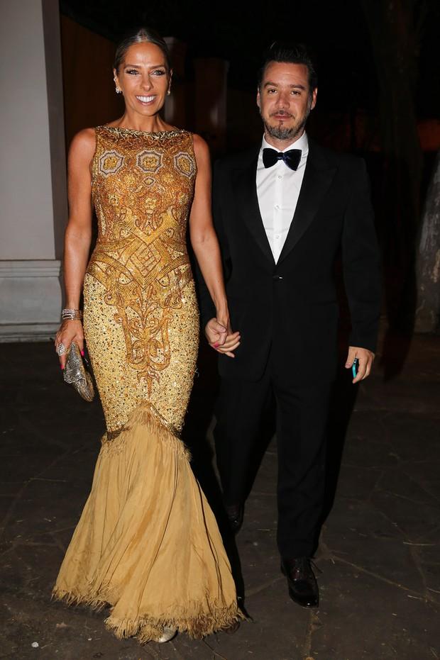 Adriane Galisteu e o marido Alexandre Iódice (Foto: Manuela Scarpa / Photo Rio News)