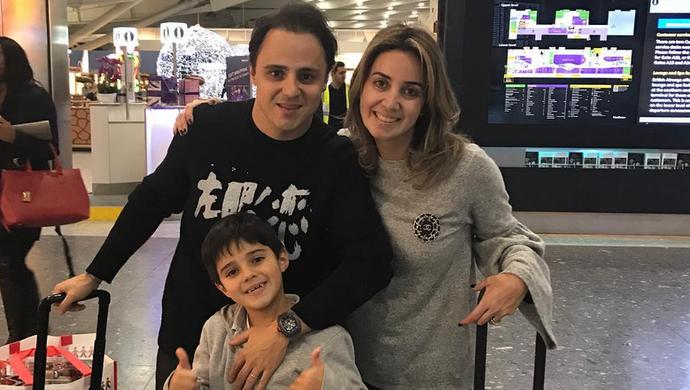 Felipe Massa sai de férias com família (Foto: Reprodução)