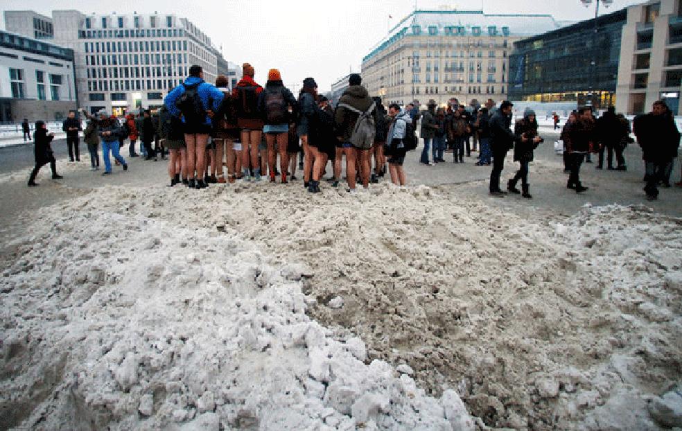 Frio não abalou os participantes (Foto: David W Cerny/Reuters)