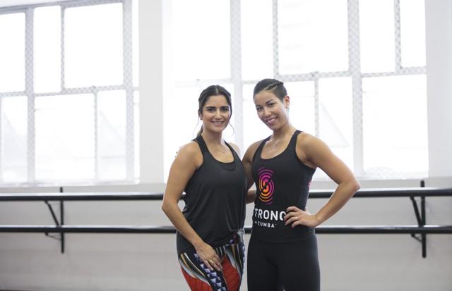 Luiza Souza entrevista Ai Lee, uma das co-criadoras do Strong by Zumba. (Foto: Joana Luz)