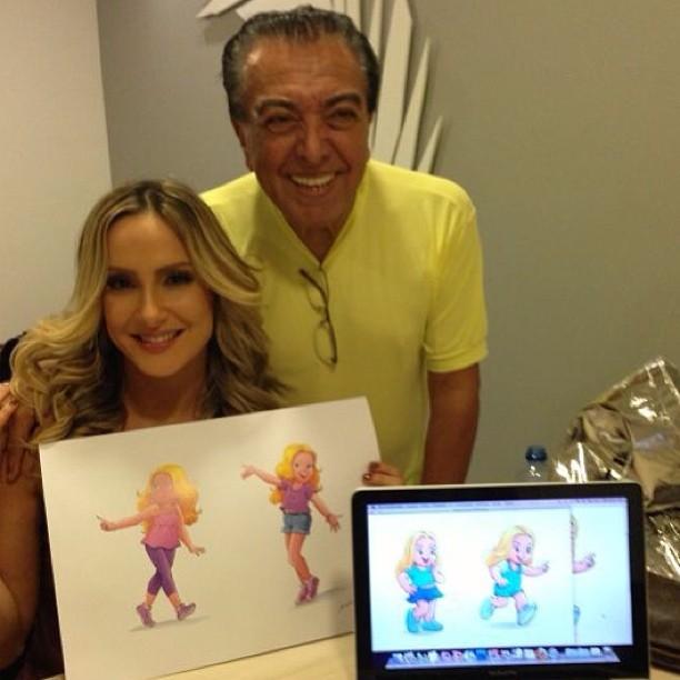 Claudia Leitte posta foto com Maurício de Sousa (Foto: Instagram / Reprodução)
