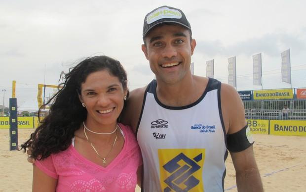 Andrezza e Bruno, casal do vôlei de praia (Foto: Carol Fontes)
