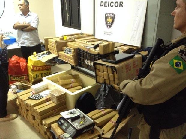 Droga estava em duas casas, em Parnamirim (Foto: Camila Torres/Inter TV Cabugi)