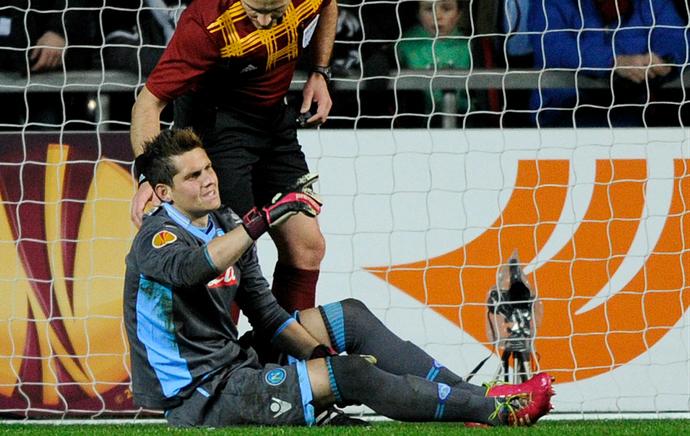 Rafael goleiro Napoli (Foto: Reuters)