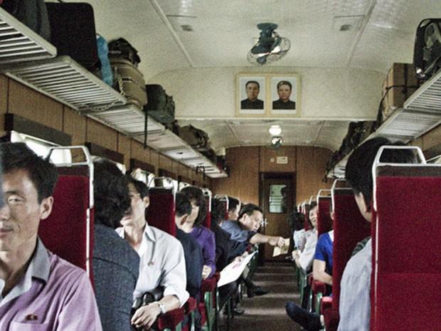 Trem na Coreia do Norte (Foto: Gabriel Prehn Britto/Arquivo pessoal)